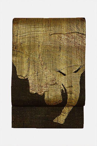銀座【帯3015】西陣 (株)都製 手織櫛織り 袋帯 (証紙付)