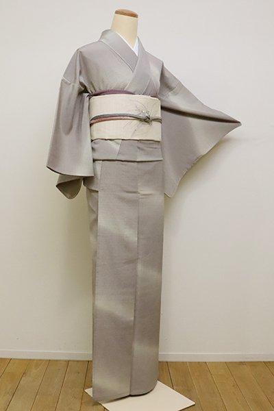 銀座【D-2232】単衣 本塩沢地 繍一ッ紋 小紋 潤色 斜め暈かし