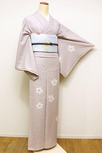 WEB限定【B-2226】(広め)紋紗 絞り染め 付下げ 灰桜色 桔梗文