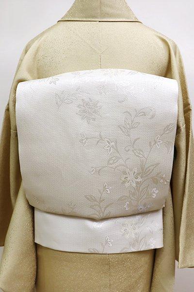 銀座【L-4514】夏袋帯 白色 欧風唐花文