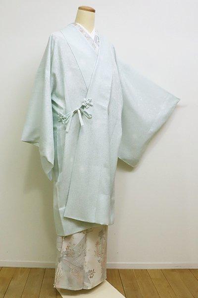 銀座【E-1071】紋紗 道中着 藍白色 蛍暈かし(しつけ付)(N)