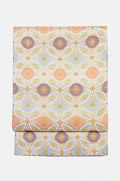 銀座【帯3032】西陣 河合美術織物製 袋帯 (西陣証紙付・未使用)