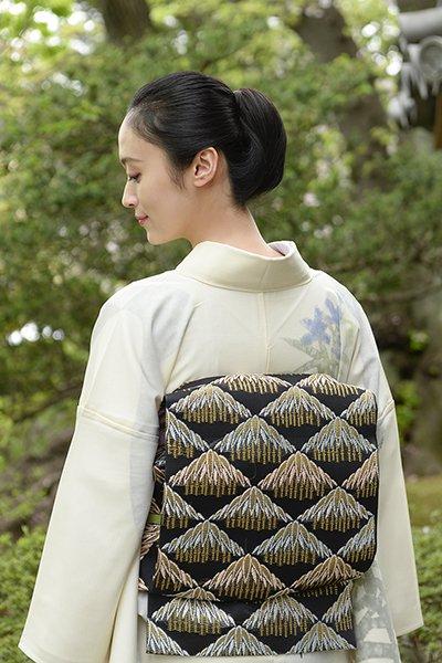 銀座【帯3036】西陣 河合美術織物製 絽袋帯