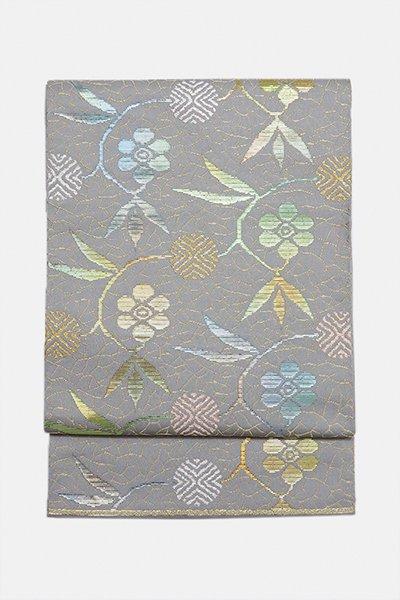 銀座【帯3039】龍村平蔵製 本袋帯「笹蔓錦」