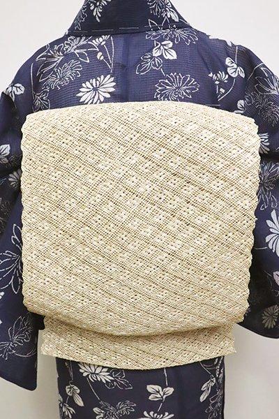 銀座【K-6131】芭蕉素材 織八寸名古屋帯 淡い蜂蜜色 無地(長尺)