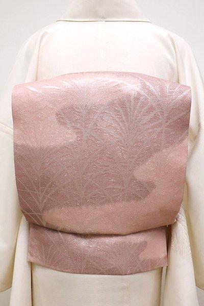 銀座【L-4532】紗 本袋帯 退紅色 芒の図