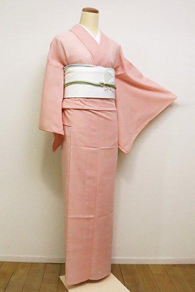 銀座【C-1659】きもの英製 夏紬風 繍一ッ紋 色無地 一斤染色
