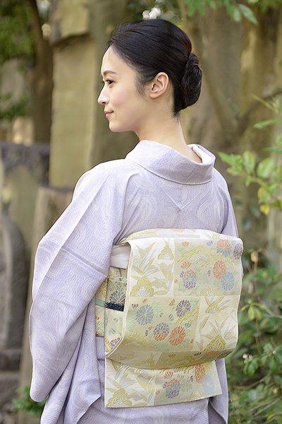 銀座【帯3045】西陣 川島織物製 絽 本袋帯