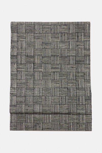 銀座【帯3047】楮布 八寸名古屋帯 網代織 (端布付)