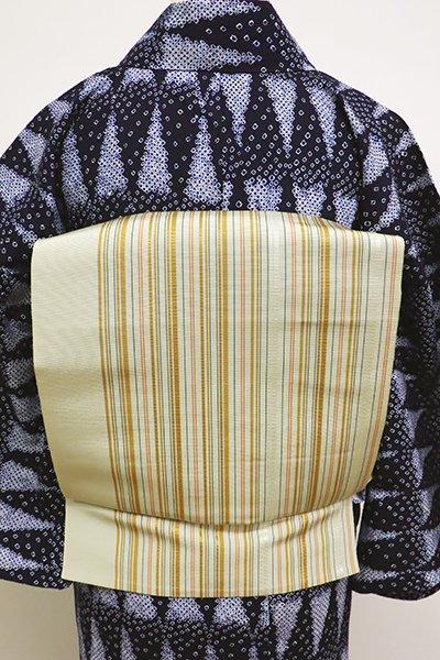 あおき【K-6156】博多織 開き八寸名古屋帯 蒸栗色 細縞