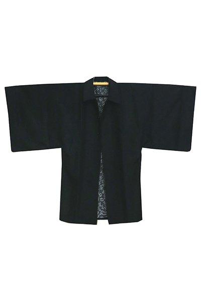 銀座【E-1078】男物 雨コート 黒色 無地