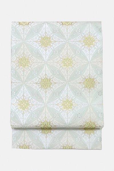 銀座【帯3053】西陣 河合美術織物製 夏袋帯 (証紙付) (N)