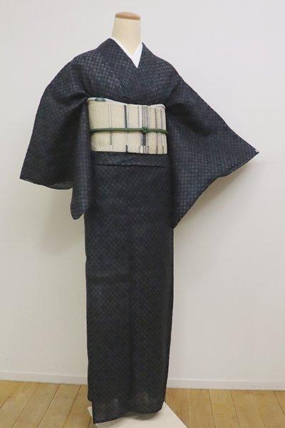 銀座【A-2856】(S)宮古上布 濃藍色 丸文