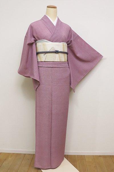 銀座【C-1665】(S)絽 江戸小紋 長春色 炭の切り口