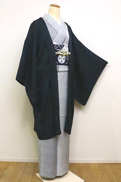 銀座【E-1079】紋紗 羽織 高麗納戸色 靄暈かし(しつけ付)