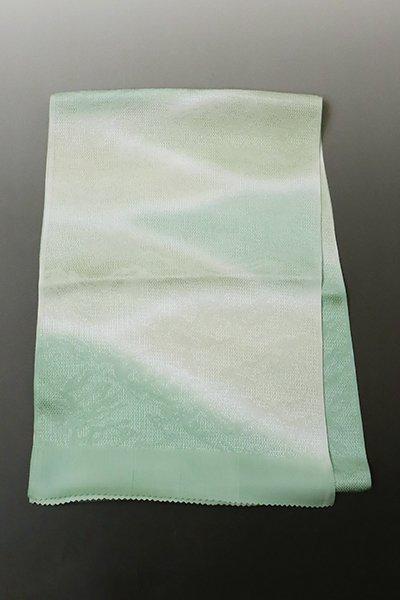 あおき【G-1323】京都衿秀 帯揚げ 薄青色×淡い山葵色×柳鼠色 遠山暈かし