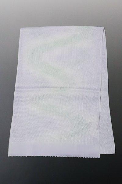 【G-1329】京都衿秀 紋紗 帯揚げ 白藤色×白緑色 流水暈かし