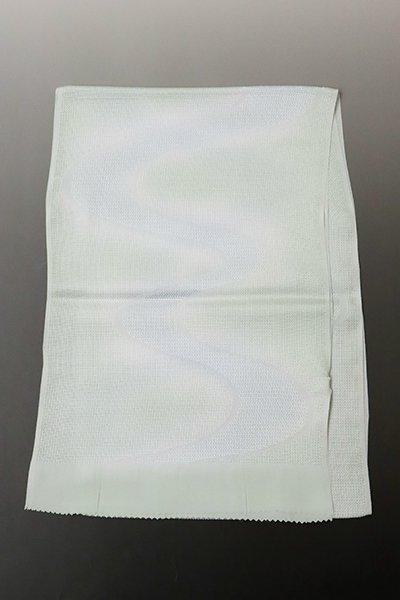 【G-1330】京都衿秀 紋紗 帯揚げ 白緑色×淡い秘色色 流水暈かし