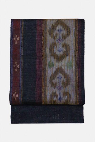 銀座【帯3070】西陣 渡文製 洒落袋帯「波衣」