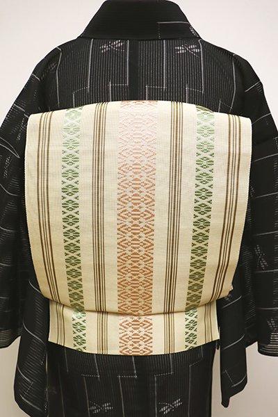 銀座【K-6232】博多織 紗献上 八寸名古屋帯 浅黄色