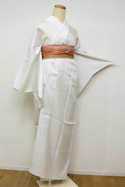 銀座【F-393】紋紗 長襦袢 乳白色 鱗文