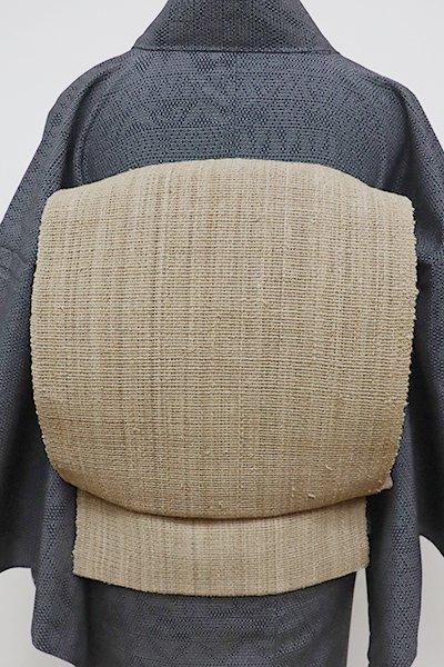 あおき【K-6270】自然布 八寸名古屋帯 枯色 無地
