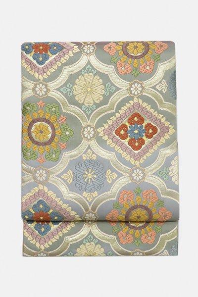 銀座【帯3081】西陣 藤原製 唐織 袋帯