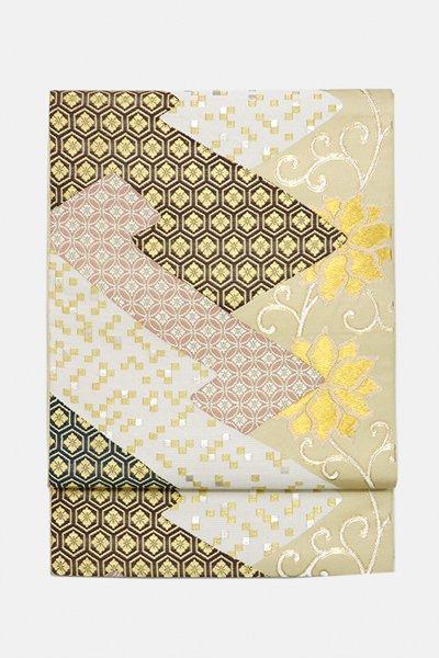 銀座【帯3084】たつむら製 本袋帯「小袖唐草」
