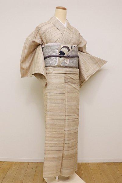 銀座【A-2895】(S)単衣紬 ナチュラルなタッサーシルク