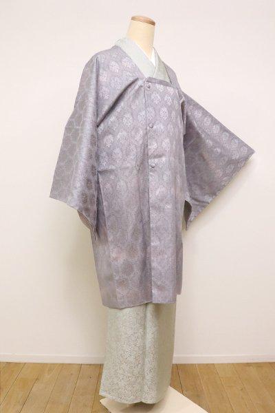 あおき【E-1088】紋紗リバーシブル 素鼠色 道行コート