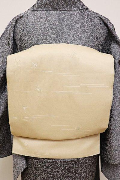 銀座【L-4610】洒落袋帯 亜麻色 蒲公英の綿毛