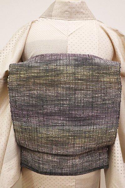 あおき【K-6278】米沢 新田工房製 真綿紬 織八寸名古屋帯 多彩な霞暈かし(反端付)