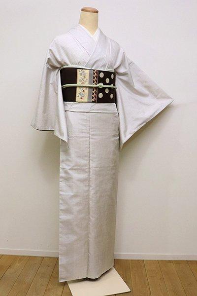 銀座【A-2906】本場奄美大島紬 白色 小絣(証紙付・三越扱い)