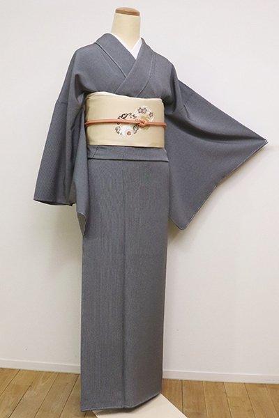 銀座【C-1704】江戸小紋 黒色 万筋(反端付)(N)