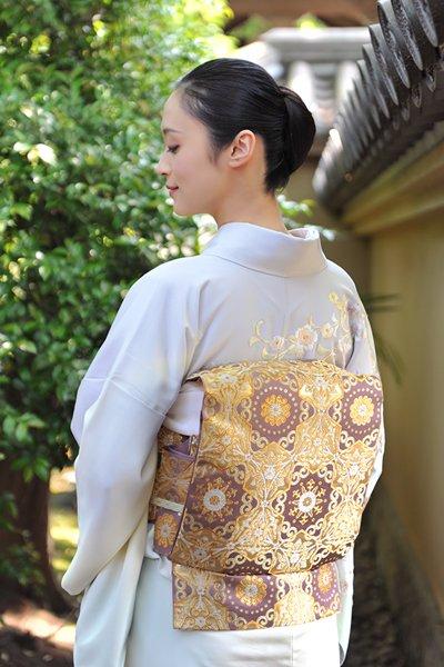 銀座【帯3106】たつむら製 本袋帯「亀甲円つなぎ」