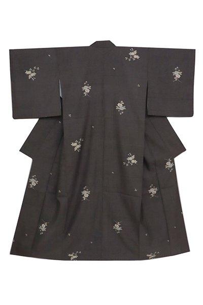 銀座【着物2565】京都しょうざん製 生紬地 小紋 (端布付)