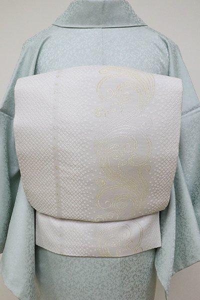 あおき【K-6308】織名古屋帯 素色 疋田に流線の図