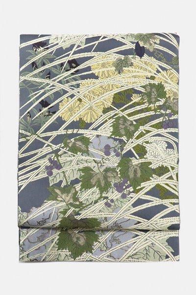銀座【帯3110】西陣 山口弘躬工房製 袋帯「里の花」