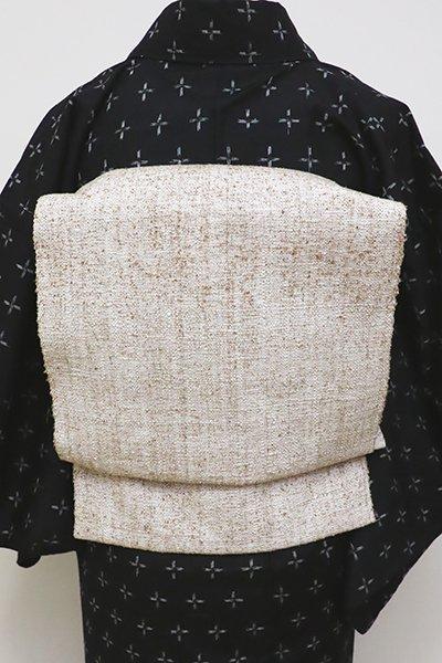 銀座【K-6327】ぜんまい紬 織八寸名古屋帯 無地