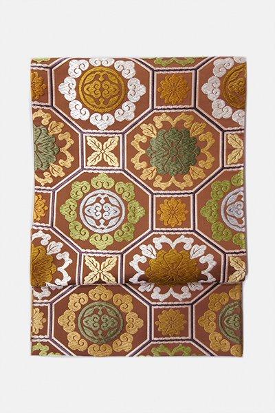 銀座【帯3120】西陣 河合美術織物製 袋帯