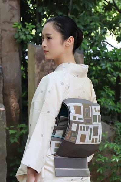 銀座【帯3122】西陣 今河織物製「木屋太」袋帯