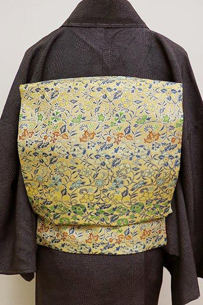 銀座【K-6334】龍村美術織物製 光波帯 金色 早雲寺文台裂