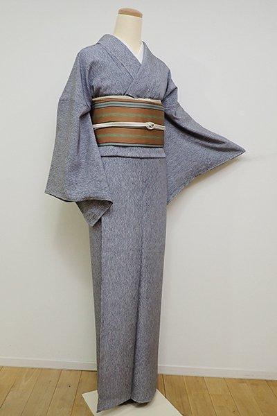 銀座【D-2347】小紋 墨色 変わり竹縞