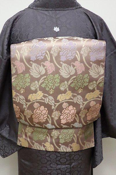 フェア【FR1909-L7】西陣 陰山織物製 箔屋清兵衛 袋帯 牡丹唐草文(落款入)