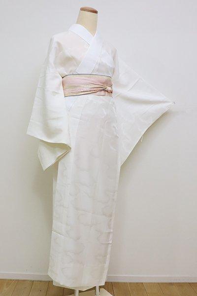 銀座【F-406】長襦袢 胡粉色 雲の地紋