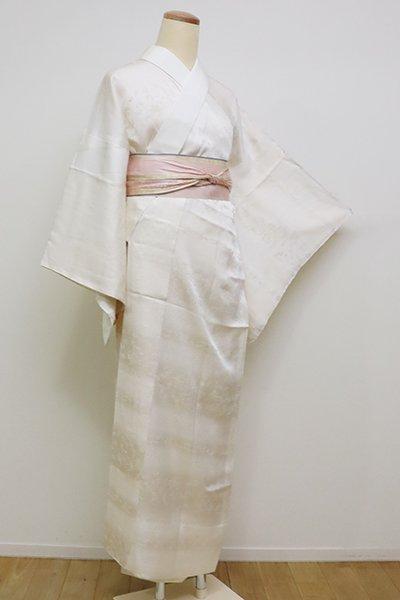 銀座【F-408】礼装用 生成り色 長襦袢 横段に鳳凰文