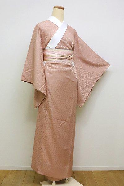 銀座【F-409】長襦袢 ときがら茶色 桜の地紋