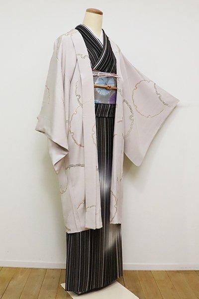 銀座【E-1090】羽織 灰桜色 雪輪文(羽織紐付)