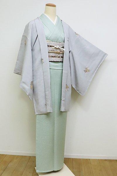 銀座【E-1094】羽織 白鼠色 瓢箪の図