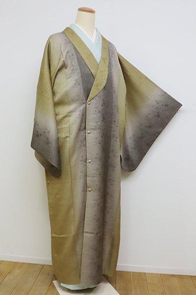 銀座【E-1095】単衣 和装コート 桑染色×煤色 竪暈かし